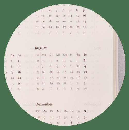 ZEITGUT Kalender - Jahresübersicht